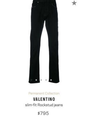 Valentino RockStud Slimfit Jeans for Sale in Atlanta, GA