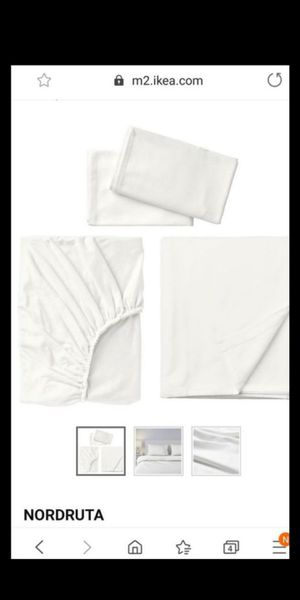Nordruta ikea flannel queen sheet set for Sale in Kissimmee, FL