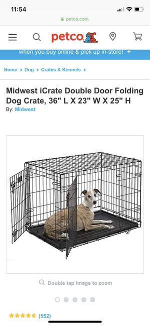 Midwest iCrate Double Door Folding Dog Crate for Sale in Everett, WA