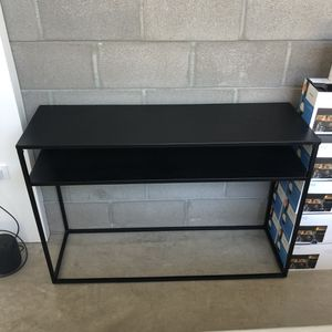 Black metal Media console / entry way table for Sale in Phoenix, AZ