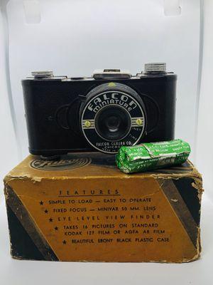 FALCON MINIATURE Camera in Original Box Brown 1940s W/ Original 127 Film for Sale in Cockeysville, MD