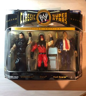 WWE Jakks Pacific Classic Superstars Undertaker, Kane and Paul Bearer, Rare LIMITED EDITION Action Figure for Sale in Miami, FL
