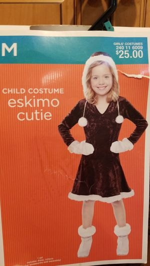 Eskimo cutie, Halloween costume girl size medium, 6 - 9 new for Sale in Riverside, CA