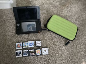 Nintendo 3DS XL with nine games for Sale in Beaumont, CA
