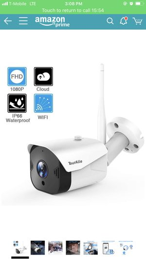 Outdoor Security Camera - TourAlle 1080P WiFi Bullet Surveillance Camera IP66 Waterproof Camera w/IR Night Vision, Activity Alarm, Encrypted Cloud & for Sale in Oakland, CA