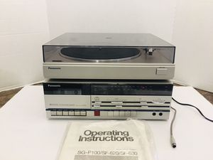 Vintage Rare New Panasonic Stereo Music System Matching Receiver Radio Cassette Deck Player & Turntable for Sale in Spring Hill, FL