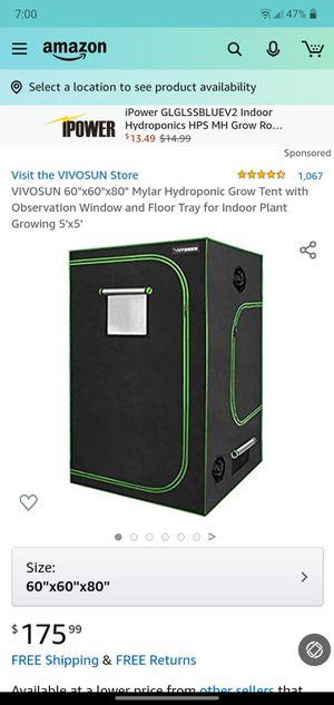 Bible son 5x5 grow tent king led 1500 watt light AC infinity in line duck fan for Sale in Fresno, CA