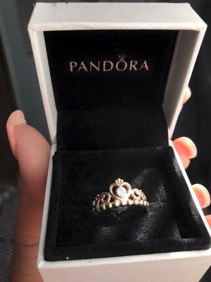 Pandora rose gold princess ring for Sale in El Paso, TX