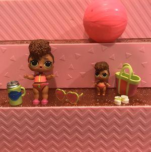 Two LOL Dolls, Surprise Doll Confetti Pop RIP TIDE and LIL RIP TIDE (3-025 and 3-060) for Sale in Miami, FL