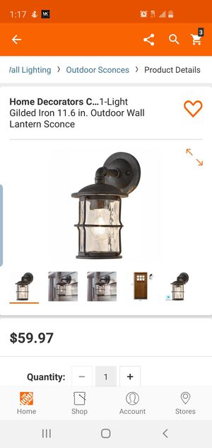 Home Decorators Collection 1-Light Gilded Iron 11.6 in. Outdoor Wall Lantern Sconce for Sale in Dallas, TX