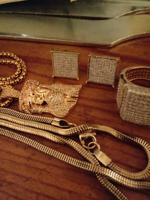14K Gold plated Mens jewelry for Sale in Cleveland, OH
