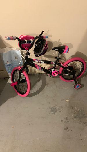 Child bike + helmet for Sale in Laurel, MD