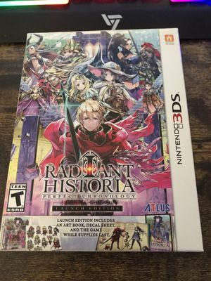 Radiant Historia. 3DS XL. Launch Edition. for Sale in Downey, CA