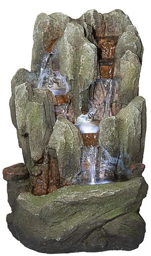 SHIPPING ONLY Table Top Desk Waterfall Fountain Stone Cascade With LED and Steam Effects for Sale in Las Vegas, NV