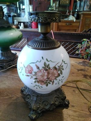 Vintage Hurricane Globe Table Lamp for Sale in Mount Airy, MD