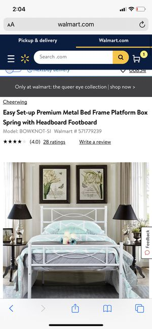 Dining room set , twin box spring and white frame for Sale in Westport, CT