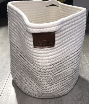 Small Storage Basket - Cute Cotton Rope Basket for Sale in Monrovia, CA