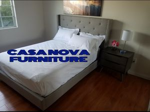 BRAND NEW BED FRAME QUEEN COMES IN BOX📢📢📢📢📢MATTRESS INCLUDED 📢📢📢📢📢📢AVAILABLE FOR SAME DAY DELIVERY OR PICK UP for Sale in Compton, CA