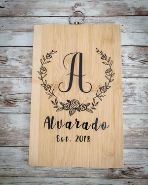Custom monogram cutting board kitchen decor for Sale in Highland, CA
