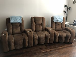 Theater seating recliner couch from Big Screen Store for Sale in Sterling, VA