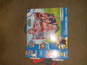 Paw patrol tent in box game and puzzle for Sale in Stockton, CA
