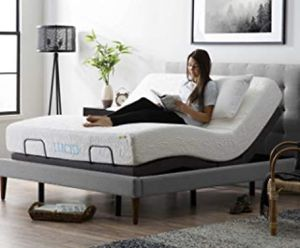 King size adjustable bed frame with quality memory mattress for Sale in Stockton, CA
