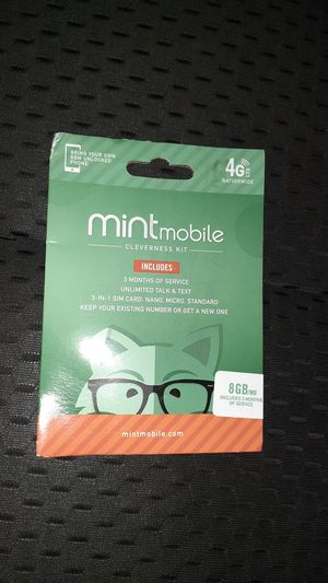 Mint mobile phone card for Sale in South Norfolk, VA