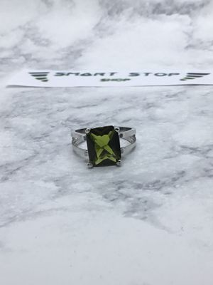 Used, 4ct 925 Silver Moldavite Ring Size 7 for Sale for sale  Bronx, NY
