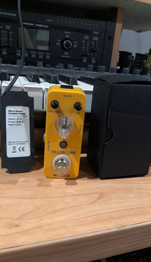 Mooer Yellow Compressor pedal for Sale in Azusa, CA