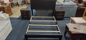 Full size bed frame with to night stands for Sale in Philadelphia, PA
