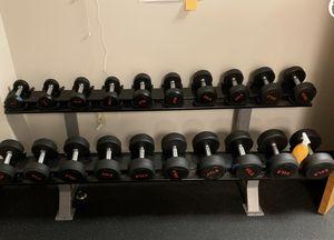 520 lb dumbbells weight set with rack for Sale in Atlanta, GA