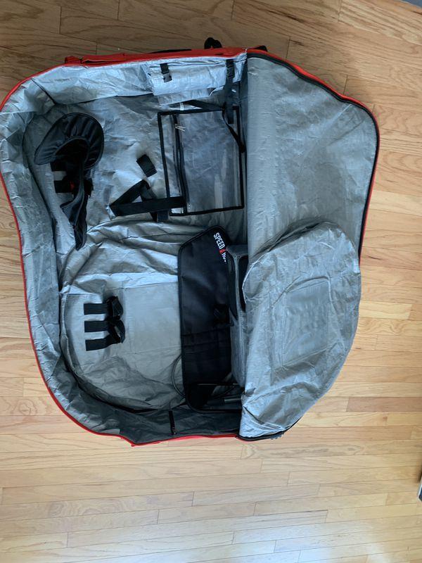 Bike travel bag speed hound freedom (black/red)