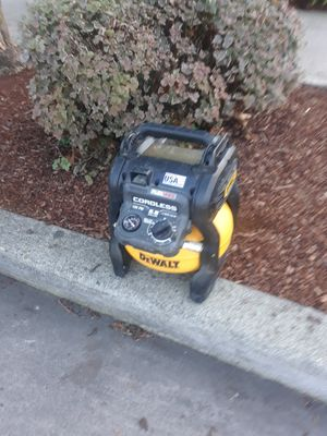 Dewalt cordless compressor for Sale in Seattle, WA