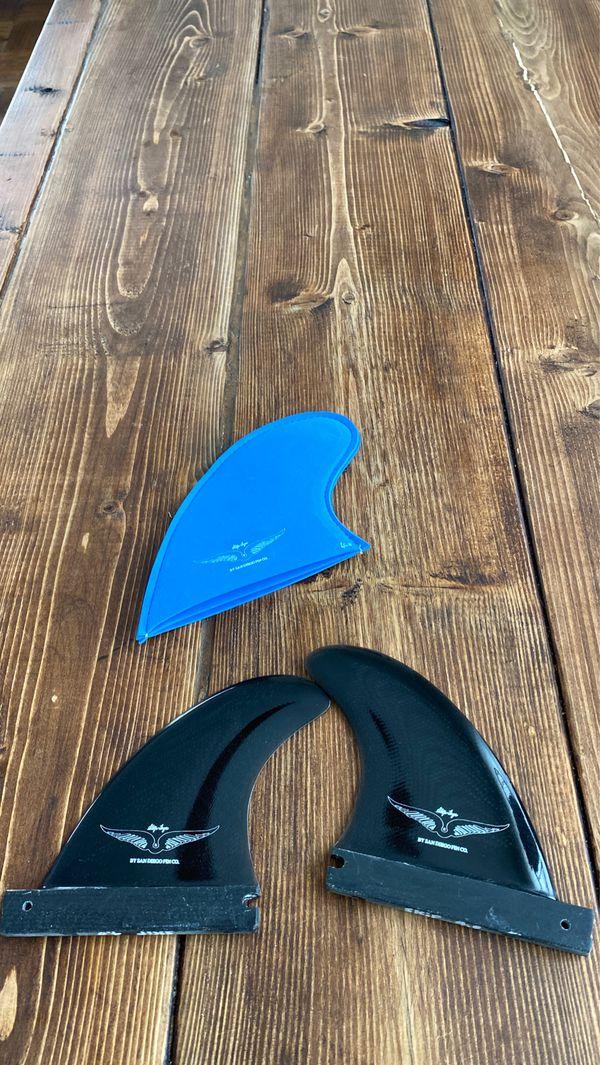 NEW 4.0 Skip Frye Side Fins Surfboard Surf Board Longboard Funboard Long Board