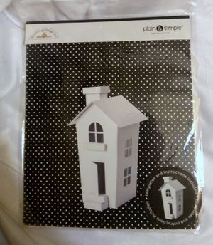 NEW Doodlebug Design Plain & Simple LARGE CHIPBOARD HOUSE Craft Kit - Templates & Instructions # 1296 for Sale in Largo, FL