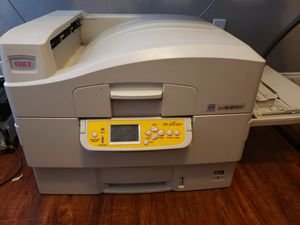 Oki proColor garment printer with white toner for Sale in Las Vegas, NV