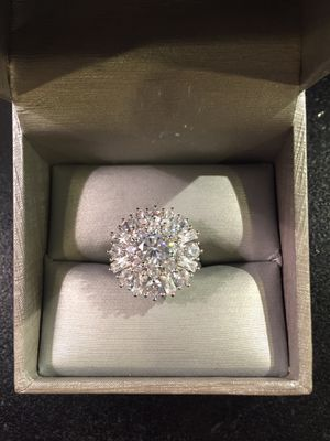 😍 ON SALE 😍 STAMPED 925 Sterling Silver High Quality Ring- Multi Lab Diamonds - Quality Marquise/Prince Cut💎 for Sale in Dallas, TX
