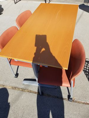 Office chairs and table,all for 5 for Sale in Concord, CA