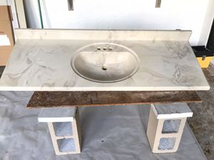Vanity Countertop Marble Composite 60 inch for Sale in PT CHARLOTTE, FL