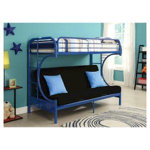 💥Furniture Sale💥 Blue Twin Futon Bunkbed Brand New In Box! $50 Down Takes It Home Today! for Sale in Hampton, VA