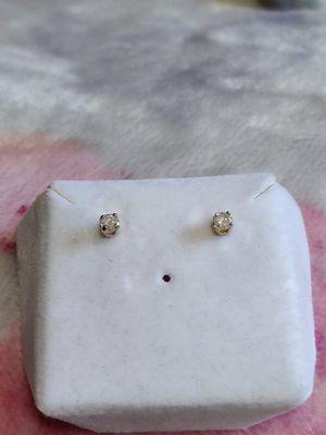 Diamond Stud Earrings in 14k Yellow Gold for Sale in Boise, ID