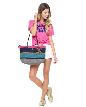 NEW! JUICY COUTURE LARGE STRAW COASTLINE SUMMER STRIPED BEACH TOTE BAG PURSE for Sale in Chandler, AZ