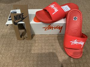 Nike x Stüssy Red Slides for Sale in San Jose, CA