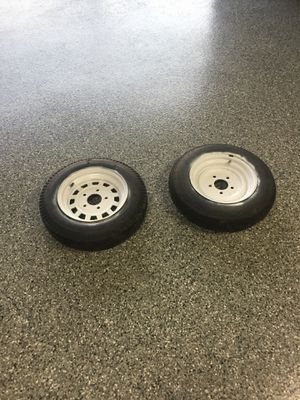 Trailer rims and tires 4.8 x 12 five lug for Sale in Homer Glen, IL