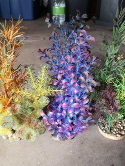 Fake Aquarium Plants Fish Tank Decoration Decor - $20 for Sale in Huntington Beach,  CA