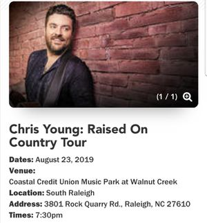 Chris Janson Chris Young Jimmie Allen Concert Tickets for Sale in Raleigh, NC