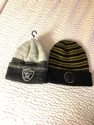 Raider and warriors beanies for Sale in Hayward, CA