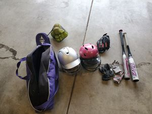 Young girls softball gear....prefer to sell all together for Sale in Hillsboro, OR