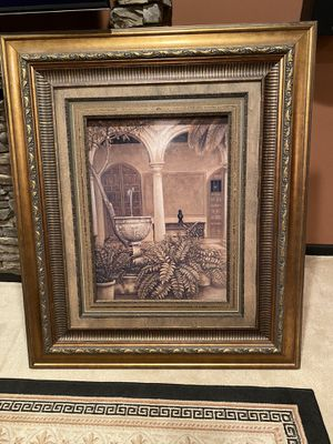5'x4' Large Courtyard picture w/ wooden frame for Sale in Lawrenceville, GA
