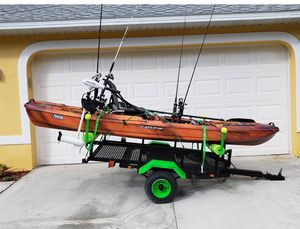 Fishing Kayak and custom trailer (MASSIVE SPEC!) for Sale in Cape Coral, FL